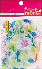 Духи, Парфюмерия, косметика Шапочка для окрашивания, MB2280, красно-синие цветы - Merci