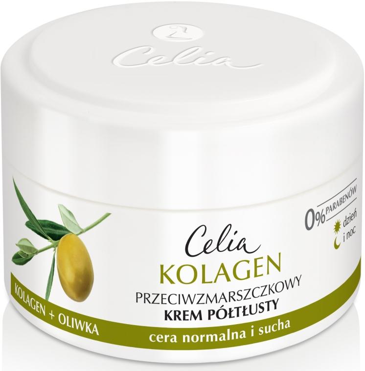 Крем обогащенный от морщин для нормальной и сухой кожи лица - Celia Collagen Cream