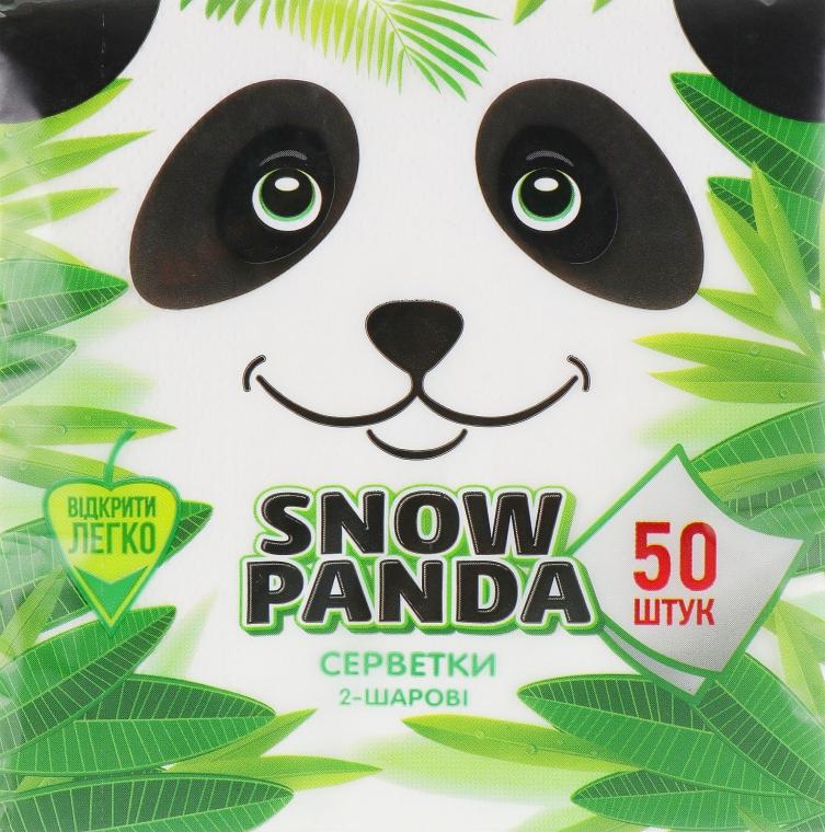 Салфетки бумажные двухслойные, 50 шт - Снежная Панда