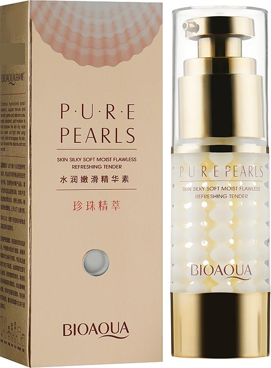 Крем-гель для глаз с жемчужной пудрой - BioAqua Pure Pearls