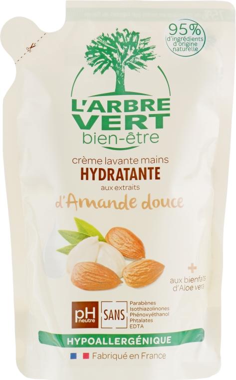 """Крем-мыло для рук """"Миндаль"""" - L'Arbre Vert Hand Wash Almond Bio (дой-пак)"""