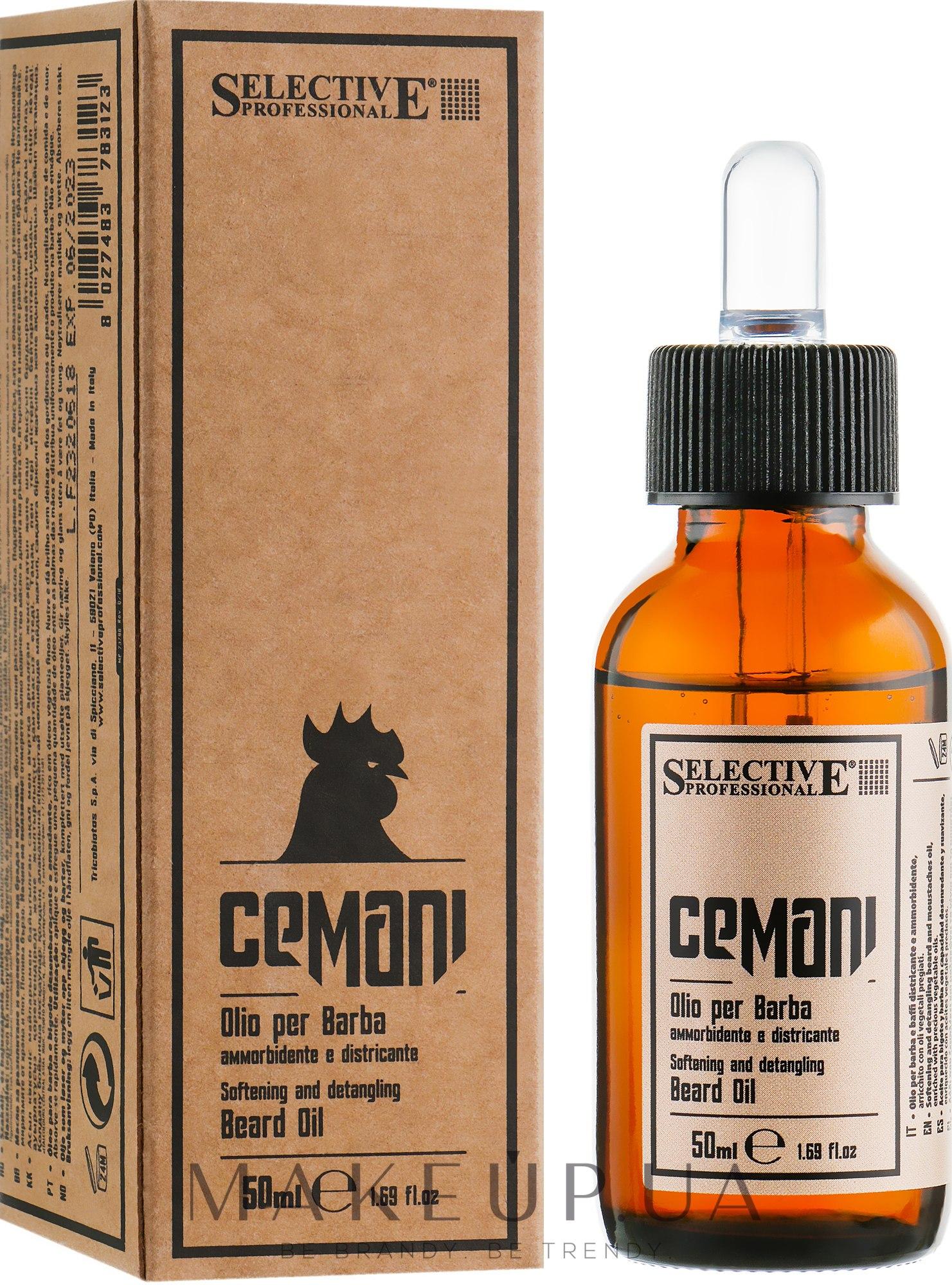 Масло для ухода за бородой и усами - Selective Professional Cemani Hyper Olio Barba — фото 50ml