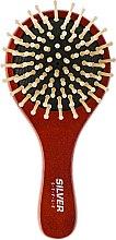 Духи, Парфюмерия, косметика Расческа массажная, деревянная, RD-01 - Silver Style