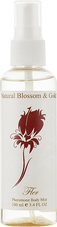 Освежающий тоник для тела с пылинками золота - Natural Blossom&Gold Fler Body Mist