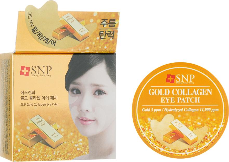 Гидрогелевые патчи для глаз с коллагеном и частицами золота - SNP Gold Collagen Eye Patch