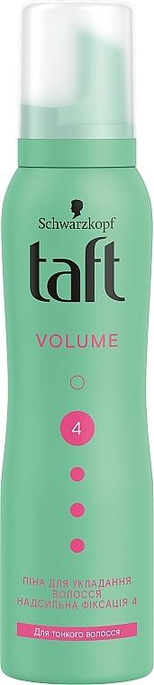 """Пена-мусс для тонких волос """"Объем"""", сверхсильная фиксация 4 - Taft True Volume 4"""