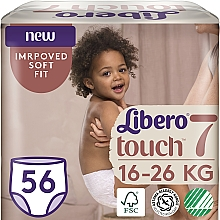 Духи, Парфюмерия, косметика Подгузники-трусики Touch Pants 7 (16-26 кг), 56 шт - Libero
