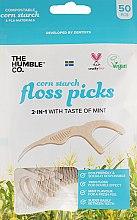 Парфумерія, косметика Флосер-зубна нитка з тримачем, коричневий - Humble Dental Floss Picks