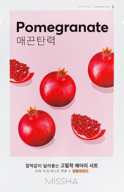 Маска для лица с экстрактом граната - Missha Airy Fit Pomegranate Sheet Mask