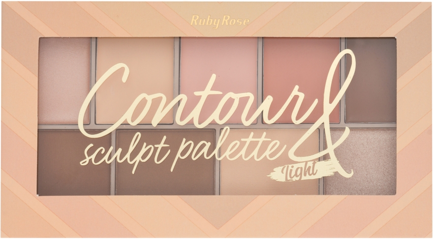 Палитра хайлайтеров - Ruby Rose Contour Sculpt Palette