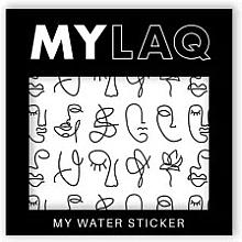"Духи, Парфюмерия, косметика Наклейки для ногтей ""Искусство"" - MylaQ My Line Art sticker"