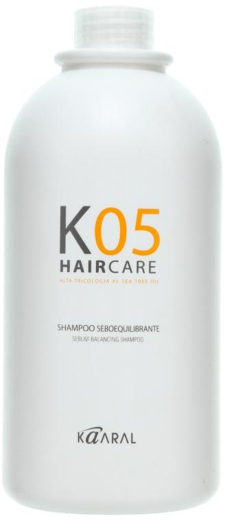 Шампунь для восстановления баланса секреции сальных желез - Kaaral К05 Sebum Balancing Shampoo — фото N4