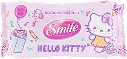 "Духи, Парфюмерия, косметика Влажные салфетки ""Hello Kitty"" 60шт, сиреневые - Smile Ukraine Hello Kitty"