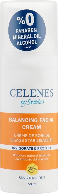 Крем для лица с облепихой для жирной и комбинированной кожи - Celenes Sea Buckthorn Balancing Facial Cream Oily and Combination Skin