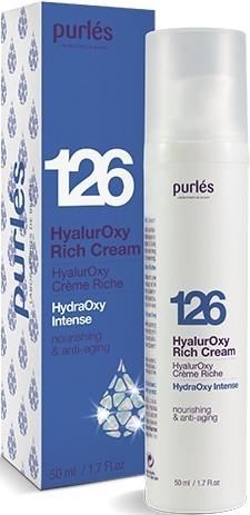 Гиалуроновый крем увлажняющий и питательный - Purles 126 HydraOxy Intense HyalurOxy Rich Cream (пробник)