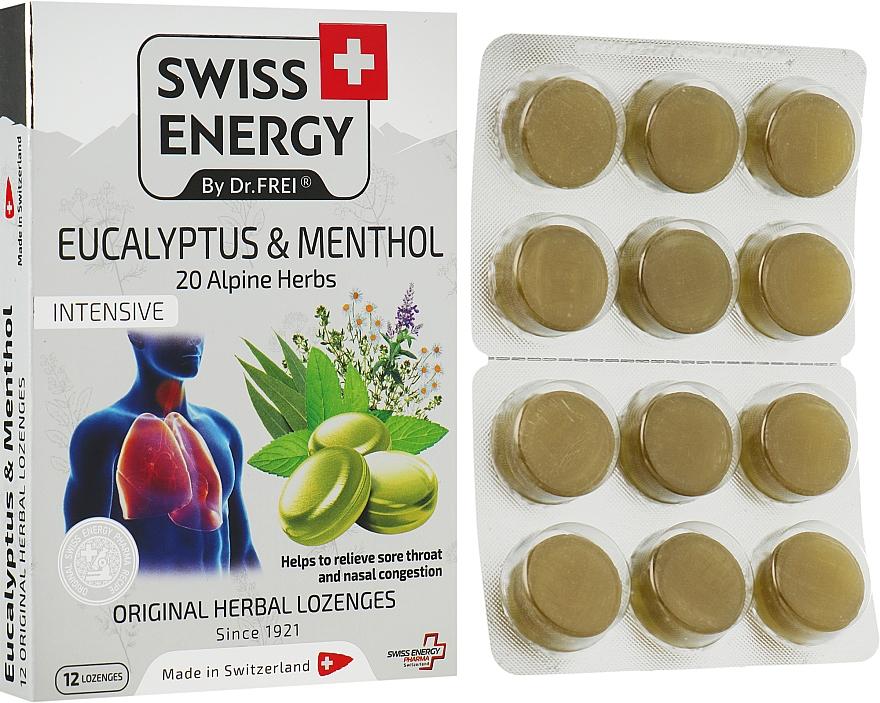 """Леденцы """"Эвкалипт и ментол"""" на основе натуральных трав - Swiss Energy Original Herbal Lozenges"""