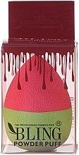 Духи, Парфюмерия, косметика Спонж для макияжа, розовый с зеленым - Bling Powder Puff
