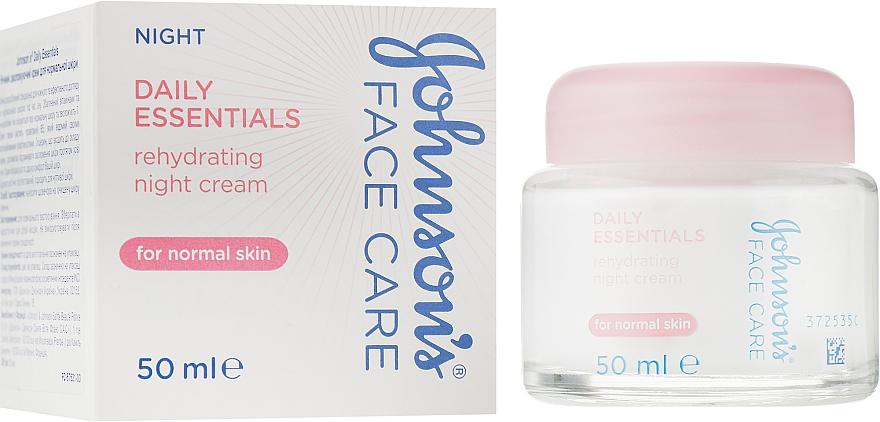 Ночной увлажняющий крем для нормальной кожи - Johnson's® Daily Essentials Night Cream For Normal Skin