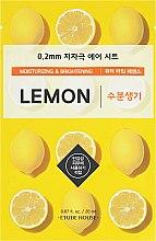 Духи, Парфюмерия, косметика Ультратонкая маска для лица с экстрактом лимона - Etude House Therapy Air Mask Lemon