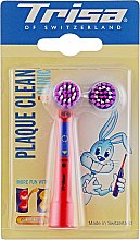 Насадка для детской электрической зубной щетки, с двумя сменными головками - Trisa Plaque Clean Clinic Kid — фото N1