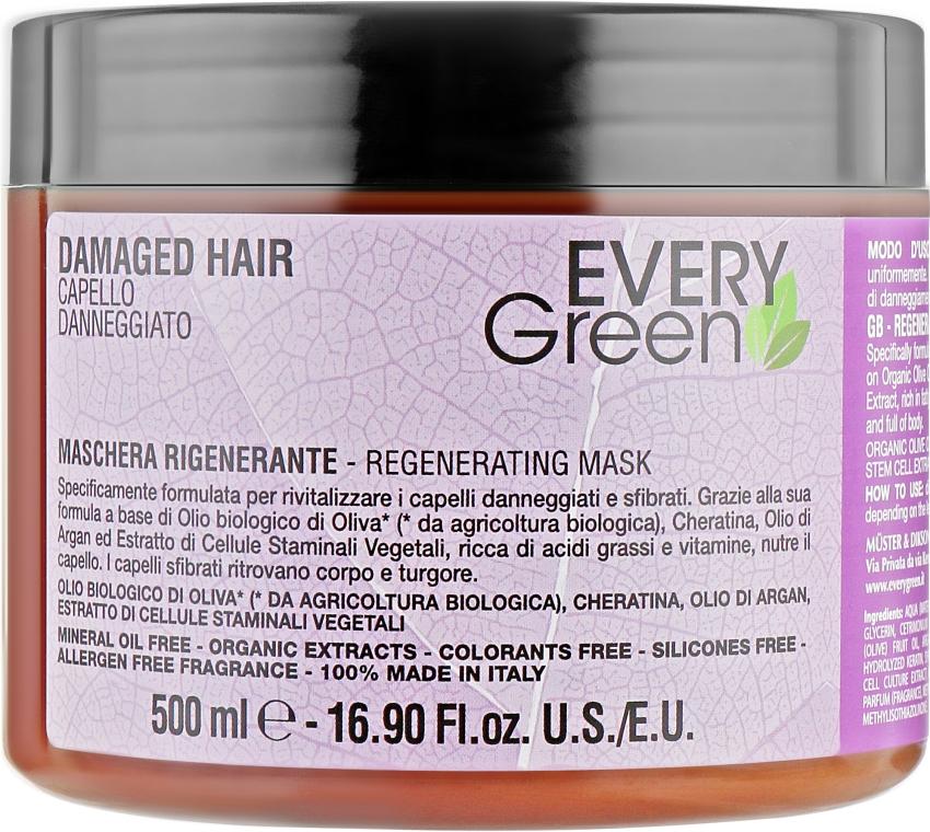 Маска восстанавливающая - Dikson Every Green Damaged Hair Mask