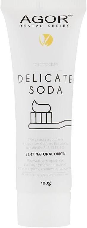 Содовая зубная паста - Agor Delicate Soda Toothpaste