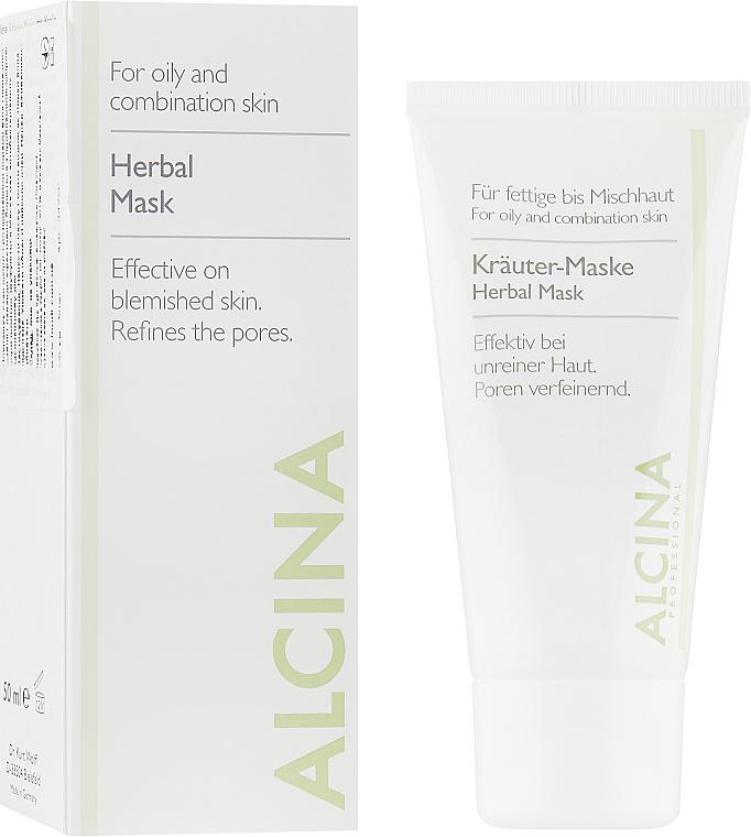 Маска для жирной кожи с растительными экстрактами - Alcina Herbal Mask