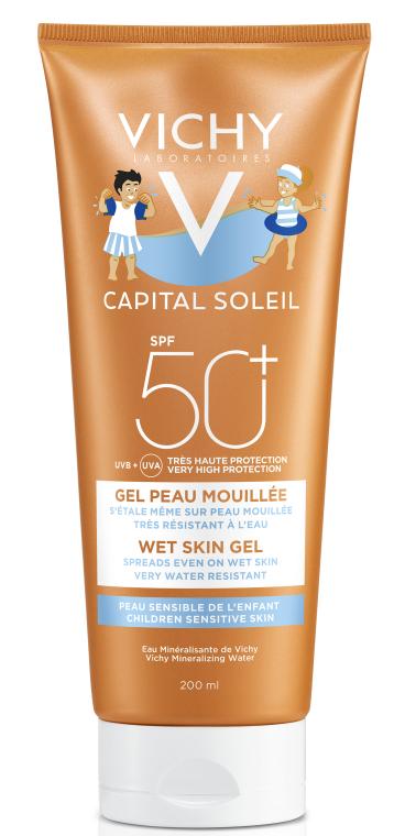 Солнцезащитный водостойкий гель с технологией нанесения на влажную чувствительную кожу детей, SPF50+ - Vichy Capital Soleil Wet Skin Gel