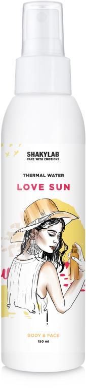 "Термальная вода с восстанавливающим эффектом ""Love Sun"" - SHAKYLAB Thermal Water For Body & Face"