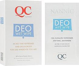 Духи, Парфюмерия, косметика Дезодорирующие салфетки - Nannic QC DEO-Wet-Wipes