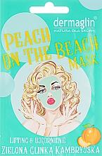 Духи, Парфюмерия, косметика Маска для лица - Dermaglin Peach On The Beach Mask
