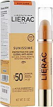 "Парфумерія, косметика Бальзам для області навколо очей ""Lierac Sunissime Protective Eye Care Anti-Age Global SPF50"" - Lierac Sunissime Protective Eye Care Anti-Age Global SPF50"