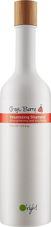 Органический шампунь с ягодой годжи для объема - O'right Goji Berry Volumizing Shampoo