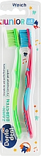 Духи, Парфюмерия, косметика Зубная щетка детская, малиновая + салатовая - Dontodent Junior