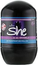Духи, Парфюмерия, косметика Роликовый дезодорант-антиперспирант - She Is Angel Deodorant-Antitranspirant
