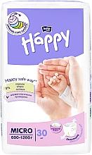 "Духи, Парфюмерия, косметика Детские подгузники ""Happy"" Micro (600-1200 г, 30 шт) - Bella Baby"