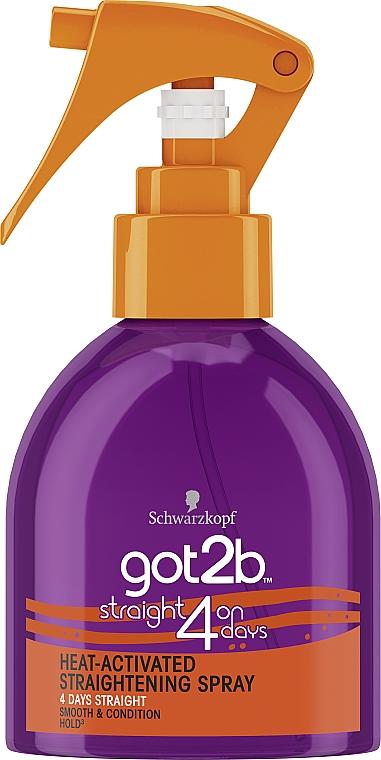 Спрей для выпрямления волос - Got2b Heat-Activated Straightening Spray