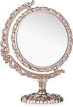 Духи, Парфюмерия, косметика Зеркало косметическое двухстороннее, 208-8, круг, бронзовое - Элита