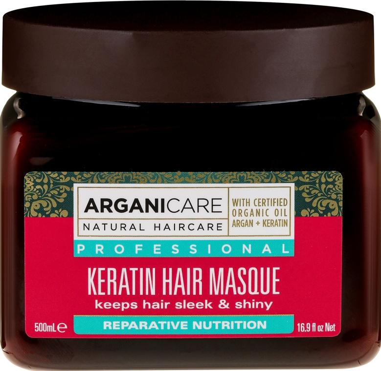 Кератиновая маска для всех типов волос - Arganicare Keratin Nourishing Hair Masque