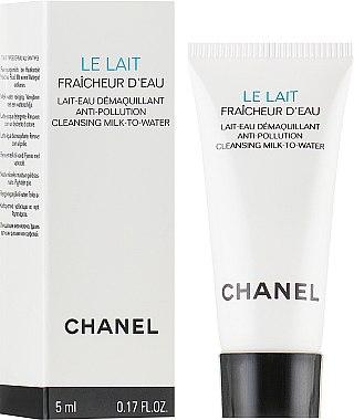 Аква-молочко для снятия макияжа с защитой от загрязнений окружающей среды - Chanel Le Lait Fraicheur D'eau (пробник) — фото N1
