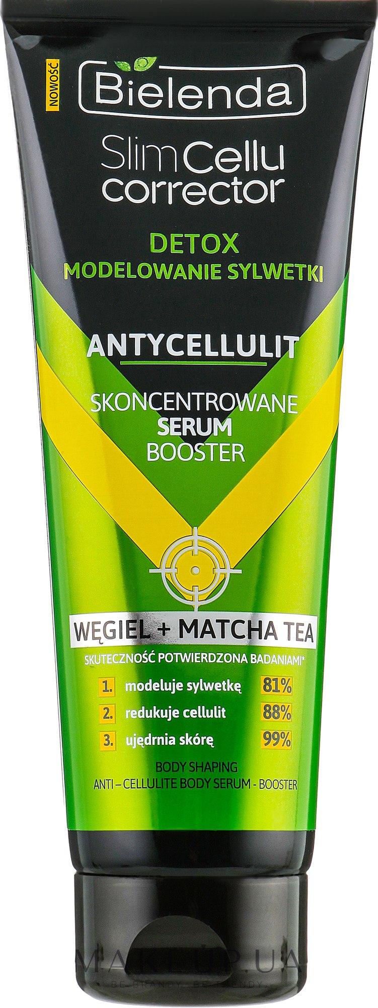 Антицелюлітна сироватка - Bielenda Slim Cellu Corrector Concentrated Serum Booster Carbon+Matcha Tea — фото 250ml