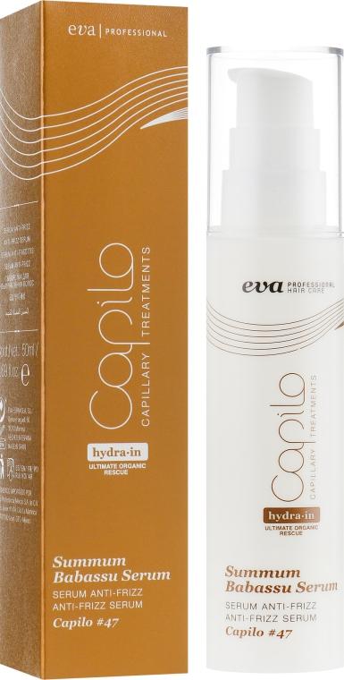 Сыворотка против завивания волос - Eva Professional Capilo Summum Babassu Serum #47