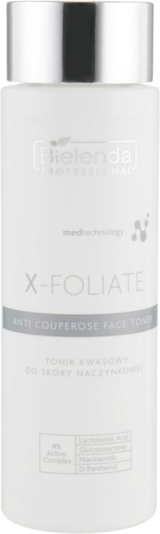 Тоник для кожи лица склонной к куперозу - Bielenda Professional X-Foliate Anti Couperose Face Toner