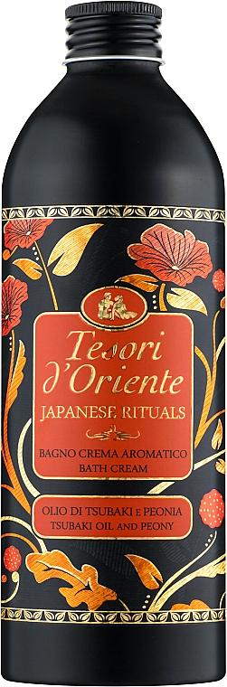 Парфюмированный крем-гель для ванны, масло цубаки и пивонии - Tesori d`Oriente Japanesse Rituals