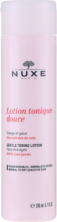 Нежный лосьон-тоник с лепестками роз - Nuxe Gentle Toning Lotion With Rose Petals