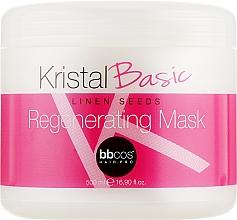 Духи, Парфюмерия, косметика Маска регенерирующая для волос - BBcos Kristal Basic Linen Seeds Regenerating Mask
