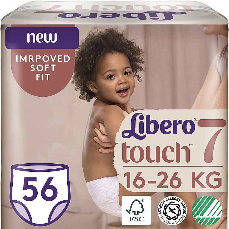 Подгузники-трусики Touch Pants 7 (16-26 кг), 56 шт - Libero
