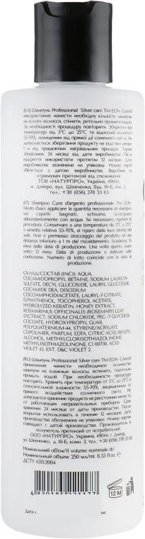 Шампунь для светлых волос - EON Professional Silver Care Shampoo — фото N2