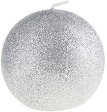 Духи, Парфюмерия, косметика Декоративная свеча, шар, серебряный, 8 см - Artman Glamour