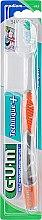 """Духи, Парфюмерия, косметика Зубная щетка, """"Technique+"""", средней жесткости, оранжевая - G.U.M Medium Compact Toothbrush"""